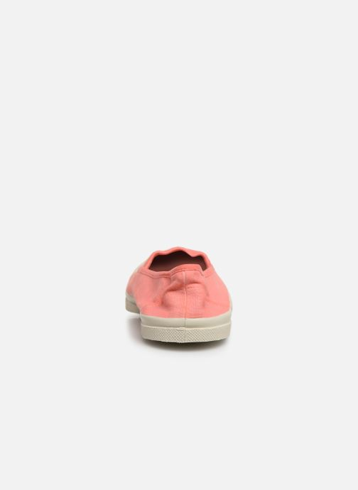 Trainers Bensimon Tennis Elastique F Pink view from the right