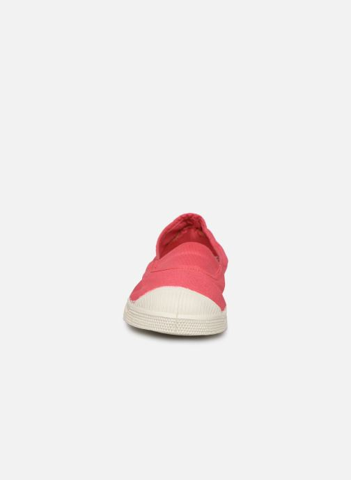 Baskets Bensimon Tennis Elastique F Rose vue portées chaussures