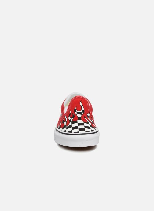 Sneaker Vans Classic Slip-on rot schuhe getragen