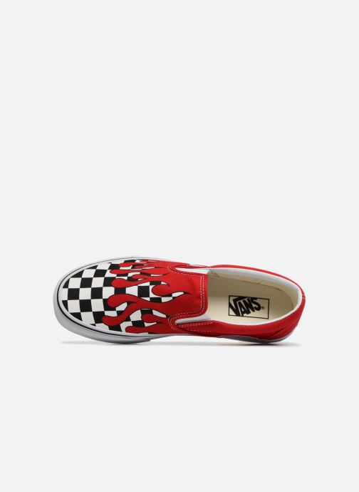 Sneaker Vans Classic Slip-on rot ansicht von links