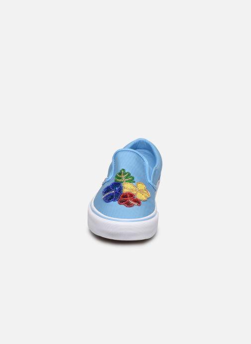 Baskets Vans Classic Slip-on Bleu vue portées chaussures