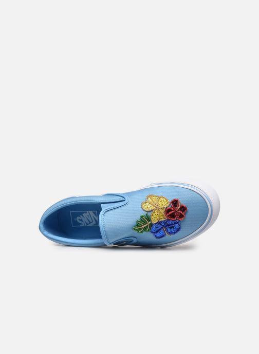 Sneaker Vans Classic Slip-on blau ansicht von links