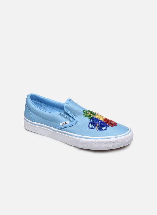 vans classic slip on bleu