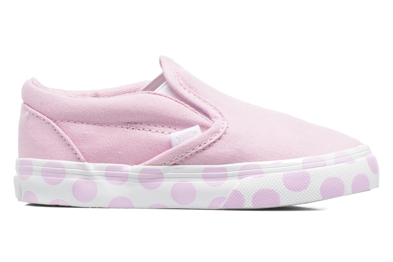 Baskets Vans Classic Slip-on BB Rose vue derrière