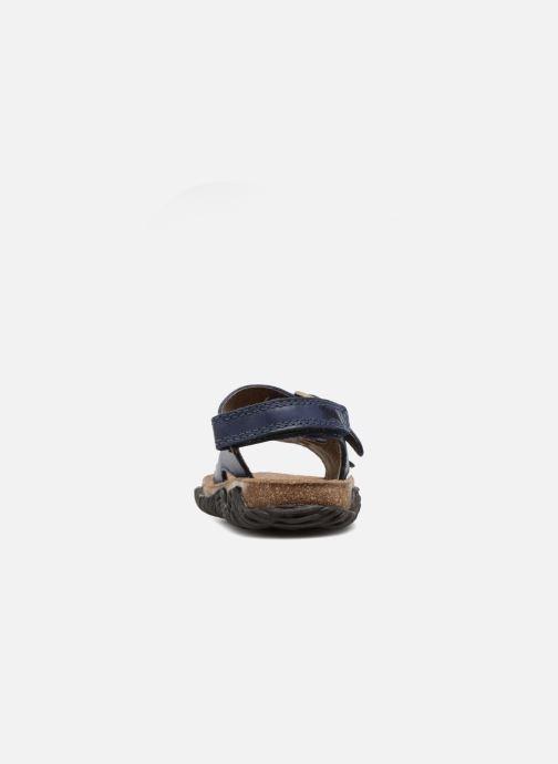 Sandales et nu-pieds Stones and Bones Wham Bleu vue droite