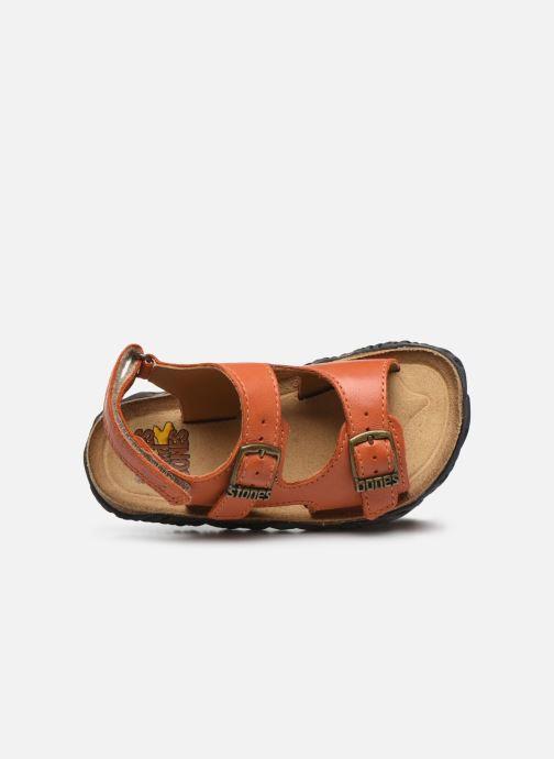 Sandales et nu-pieds Stones and Bones Wham Orange vue gauche
