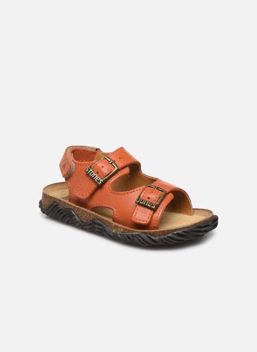 Sandales et nu-pieds Stones and Bones Wham Orange vue détail/paire
