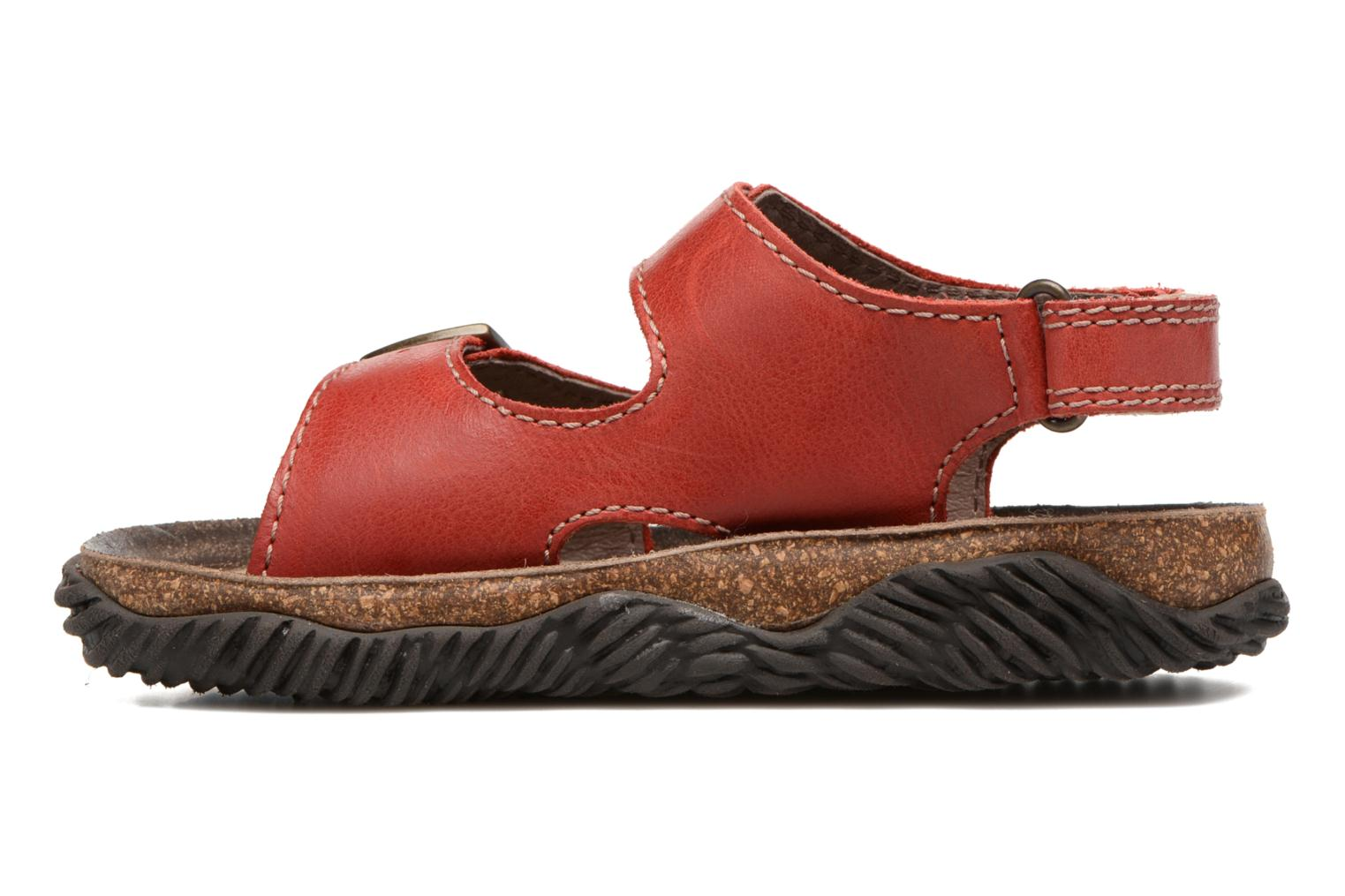 Sandals Stones and Bones Wham Red front view