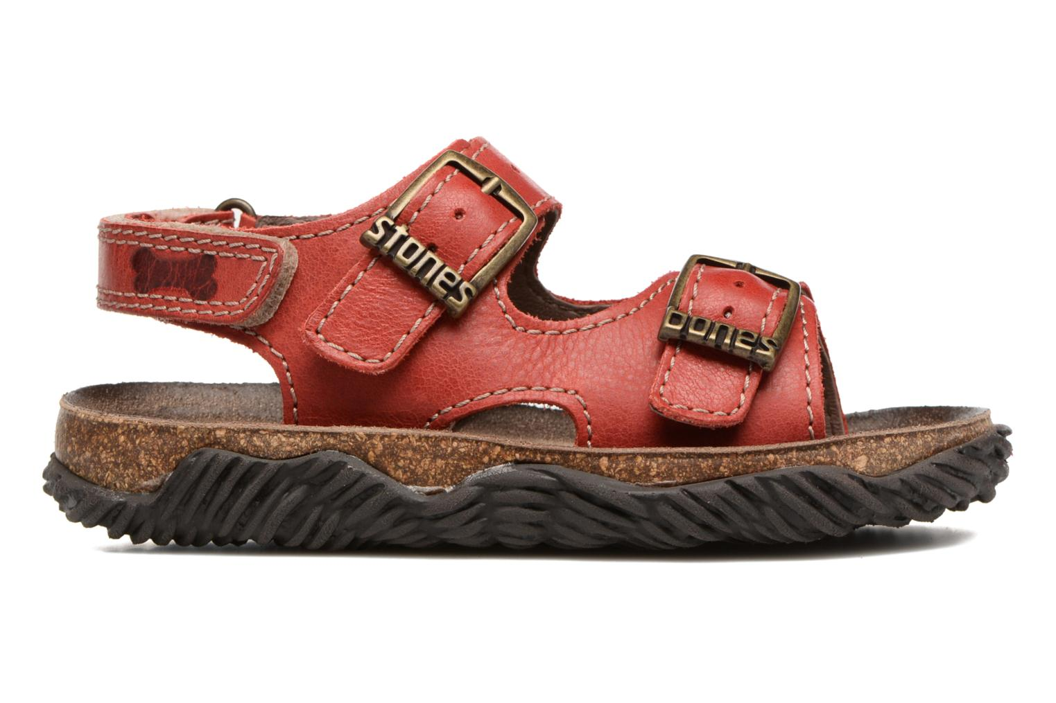 Sandals Stones and Bones Wham Red back view