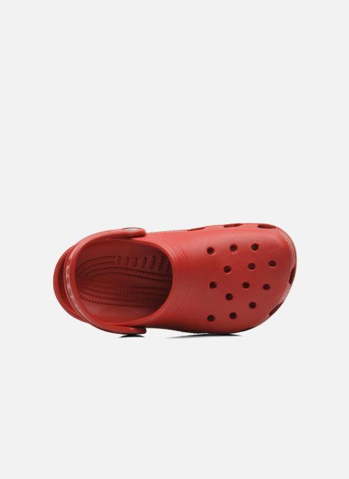 Sandales et nu-pieds Crocs Classic Kids Rouge vue gauche