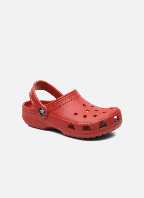 Sandales et nu-pieds Crocs Classic Clog K Rouge vue détail/paire