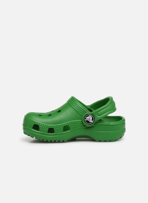 Sandalias Crocs Kids Cayman Verde vista de frente