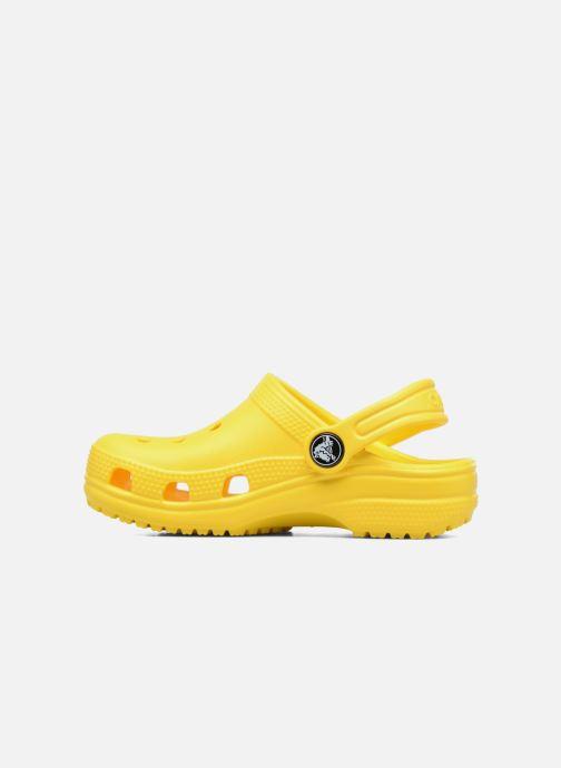 Sandales et nu-pieds Crocs Classic Kids Jaune vue face