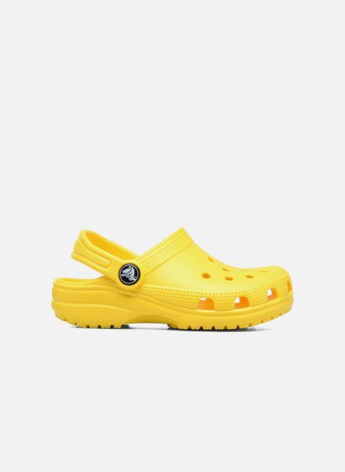 Sandales et nu-pieds Crocs Classic Kids Jaune vue derrière