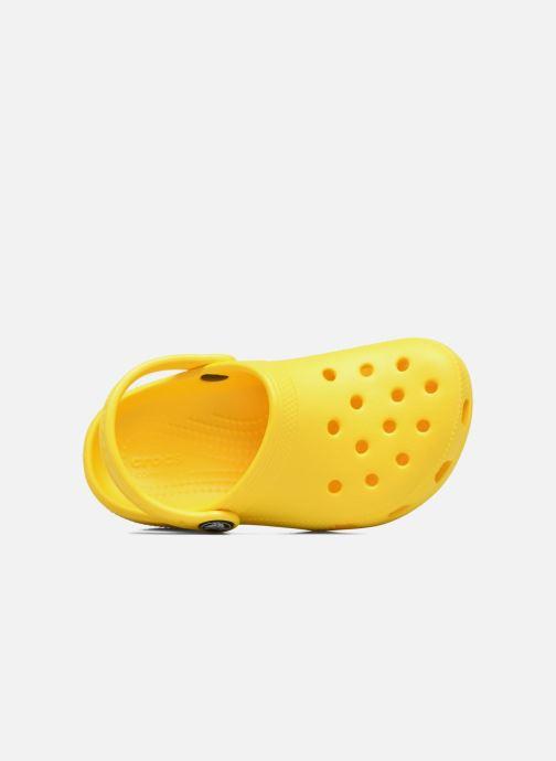 Sandales et nu-pieds Crocs Classic Kids Jaune vue gauche