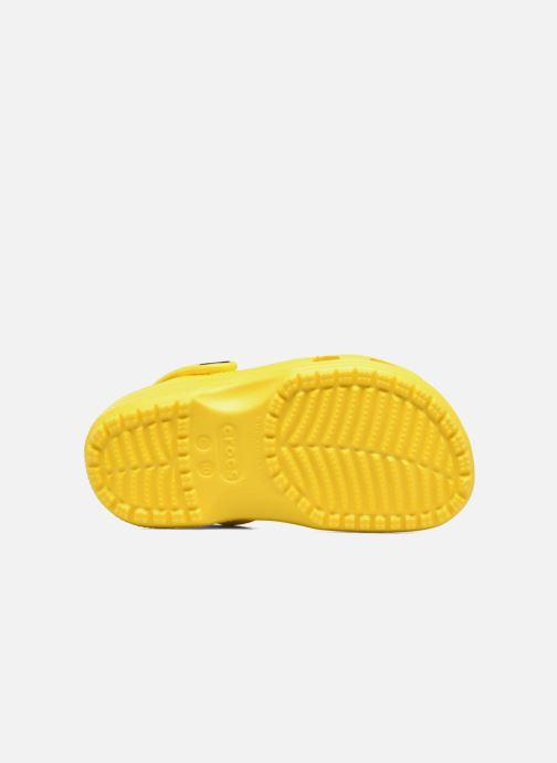 Sandales et nu-pieds Crocs Classic Kids Jaune vue haut