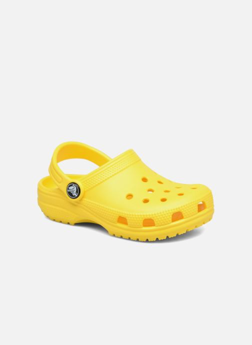 Sandales et nu-pieds Crocs Classic Kids Jaune vue détail/paire