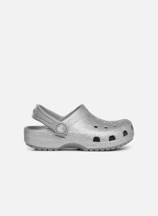 Sandalias Crocs Kids Cayman Plateado vistra trasera