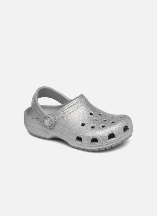 Sandalias Crocs Kids Cayman Plateado vista de detalle / par