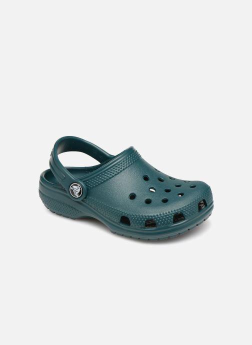 Sandales et nu-pieds Crocs Classic Clog K Vert vue détail/paire