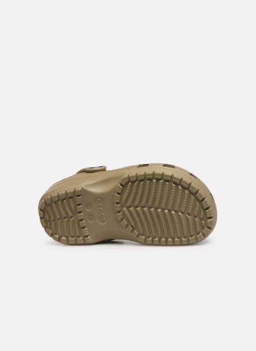 Sandales et nu-pieds Crocs Classic Kids Vert vue haut