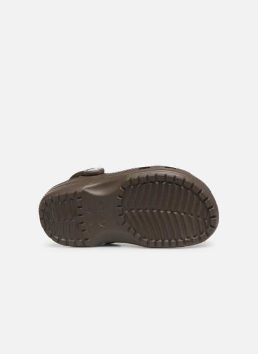 Sandals Crocs Kids Cayman Brown view from above