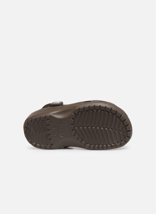 Sandali e scarpe aperte Crocs Kids Cayman Marrone immagine dall'alto