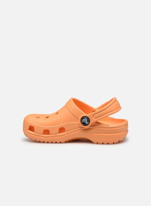 Sandalias Crocs Kids Cayman Naranja vista de frente