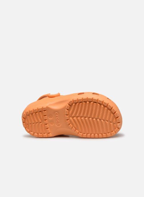 Sandales et nu-pieds Crocs Classic Kids Orange vue haut