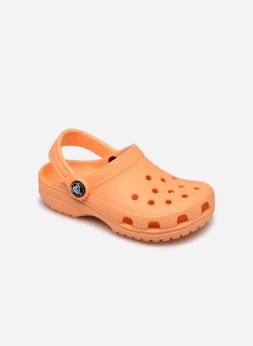 Sandales et nu-pieds Crocs Classic Clog K Orange vue détail/paire