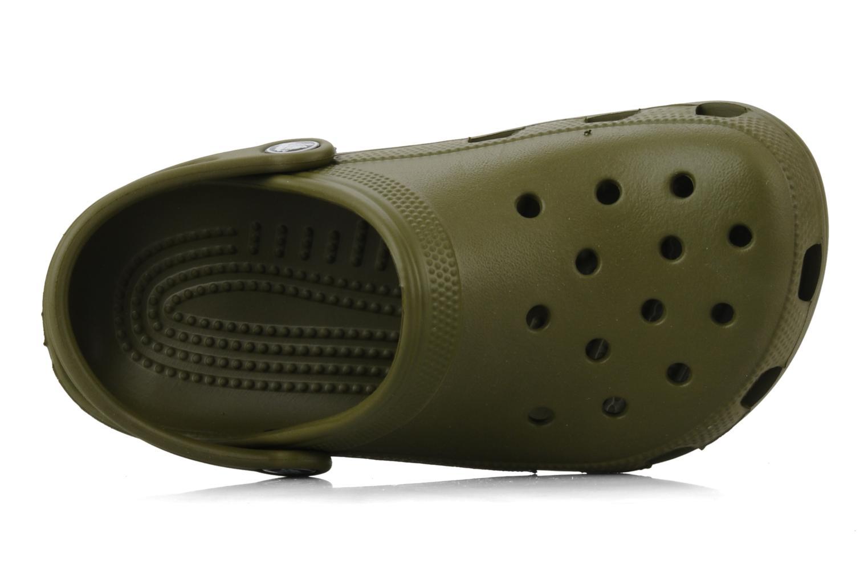 Sandales et nu-pieds Crocs Classic Kids Vert vue gauche