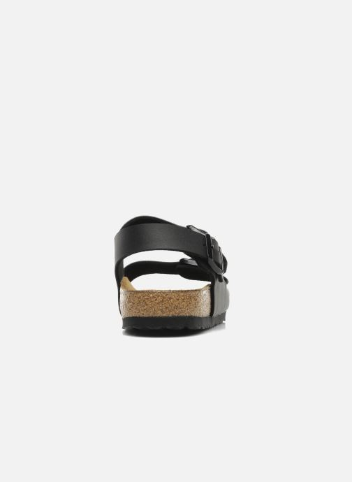 Sandals Birkenstock Milano Flor M Black view from the right