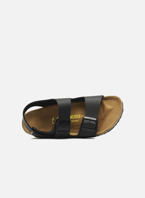 Sandals Birkenstock Milano Flor M Black view from the left