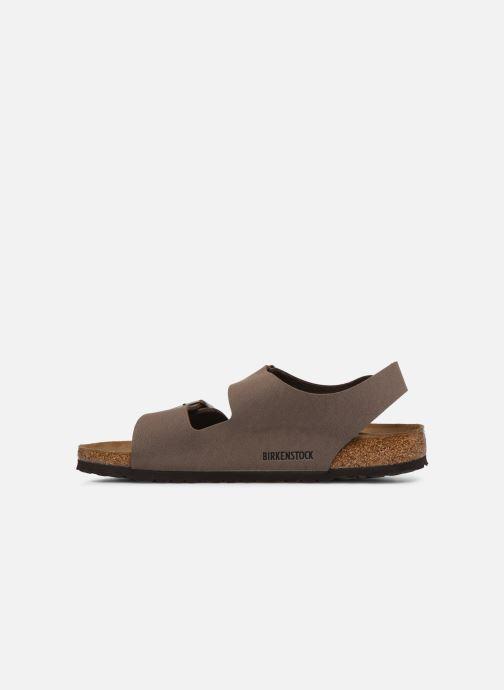 Sandales et nu-pieds Birkenstock Milano Flor M Marron vue face