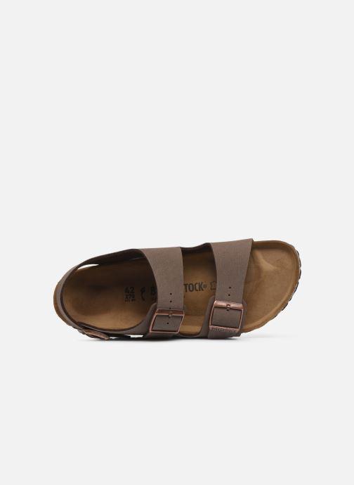 Sandales et nu-pieds Birkenstock Milano Flor M Marron vue gauche