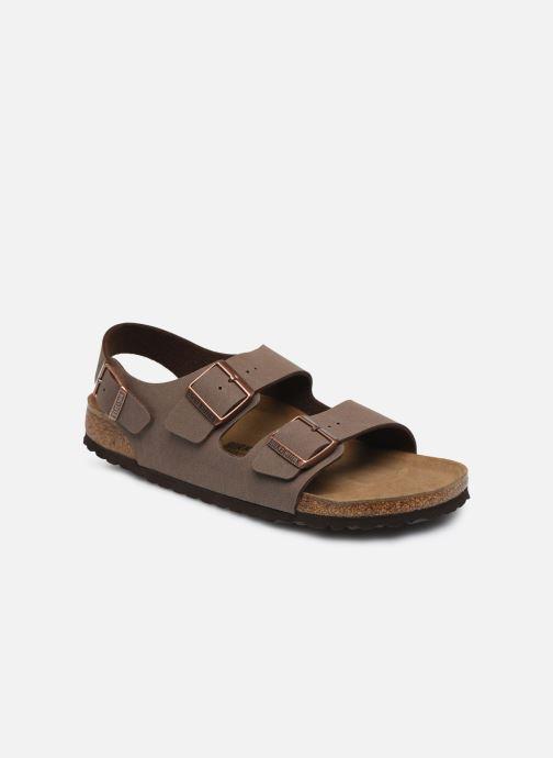 Sandales et nu-pieds Birkenstock Milano Marron vue détail/paire