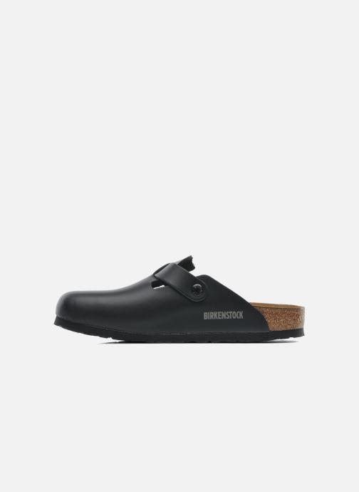 Sandalen Birkenstock Boston Cuir M schwarz ansicht von vorne