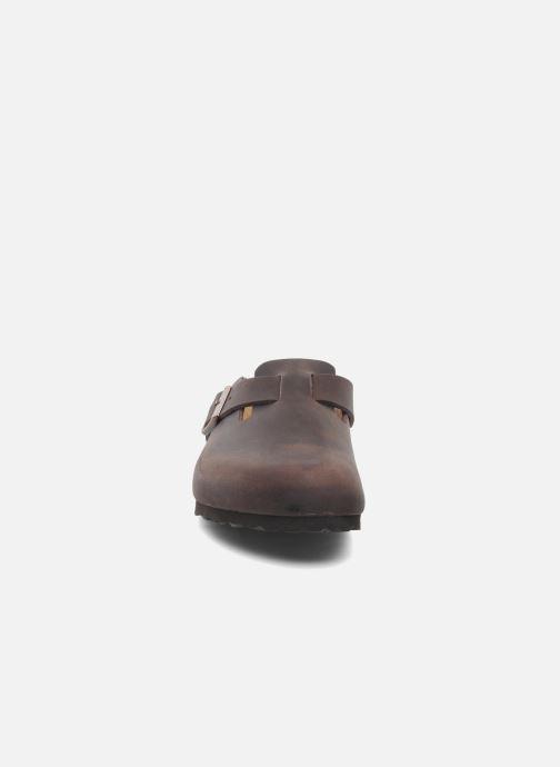 Sandales et nu-pieds Birkenstock Boston Cuir M Marron vue portées chaussures