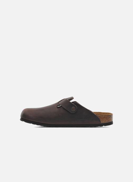 Sandales et nu-pieds Birkenstock Boston Cuir M Marron vue face