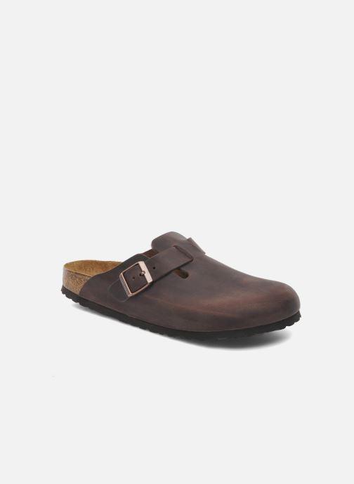 Sandales et nu-pieds Birkenstock Boston Cuir M Marron vue détail/paire