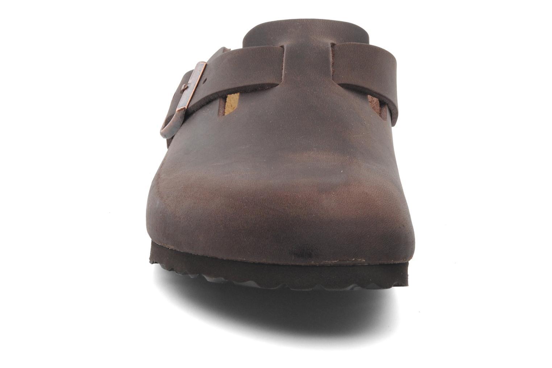 Sandali e scarpe aperte Birkenstock Boston Cuir M Marrone modello indossato