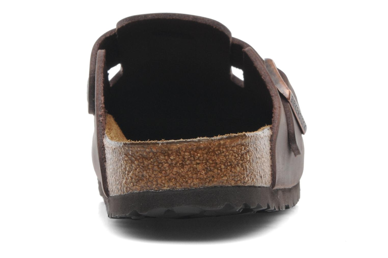 Sandals Birkenstock Boston Cuir M Brown view from the right