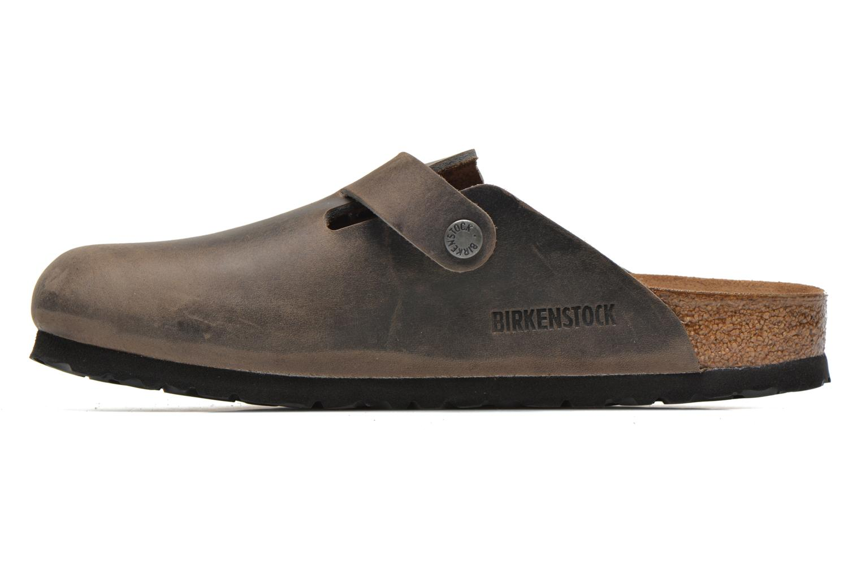 Sandals Birkenstock Boston Cuir M Grey front view