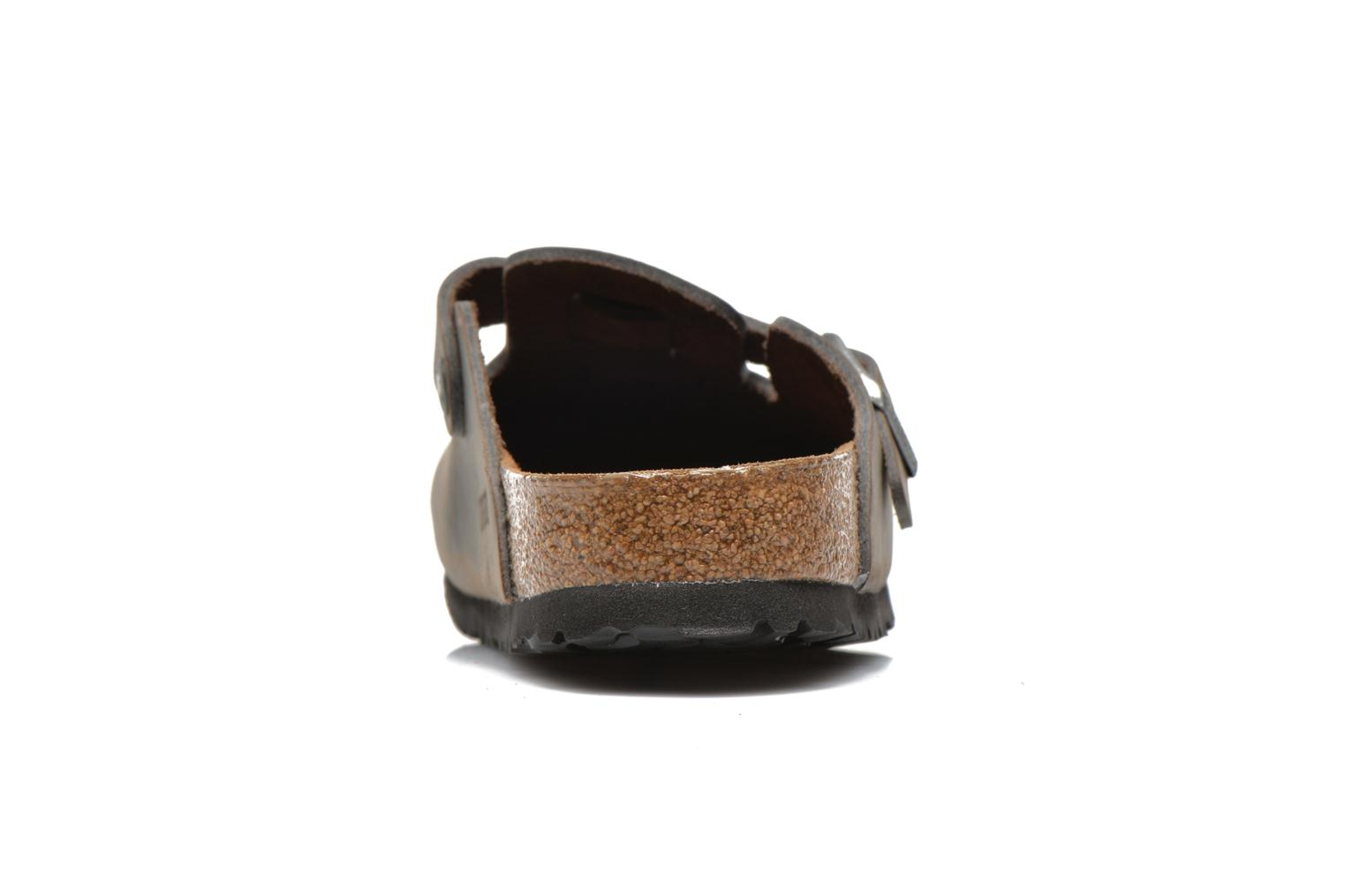 Sandals Birkenstock Boston Cuir M Grey view from the right