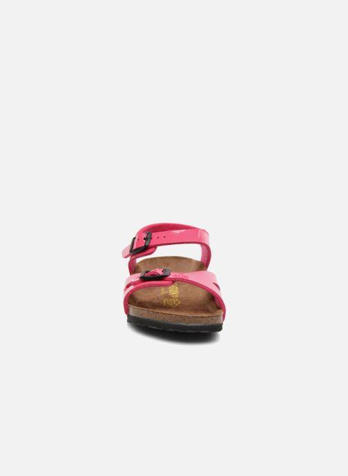 Sandalen Birkenstock Rio rosa schuhe getragen