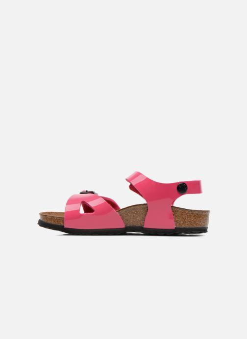 Sandalen Birkenstock Rio rosa ansicht von vorne