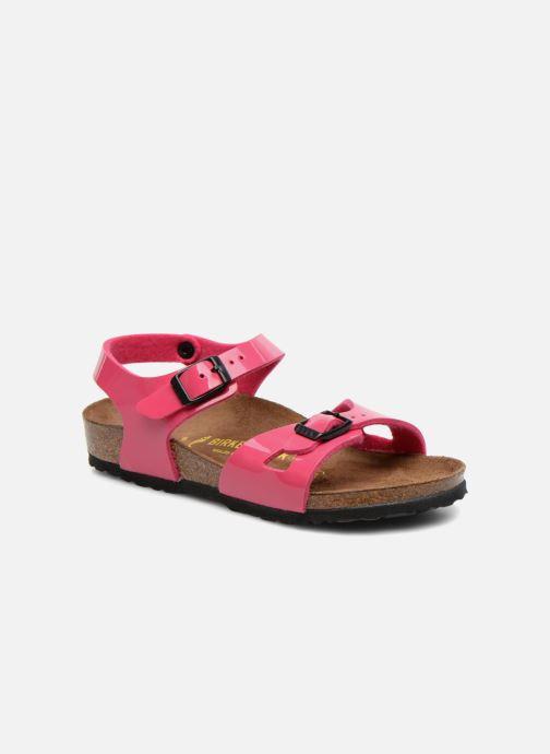 Sandaler Birkenstock Rio (Smal model) Pink detaljeret billede af skoene