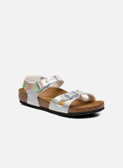 Sandales et nu-pieds Birkenstock Rio Argent vue détail/paire