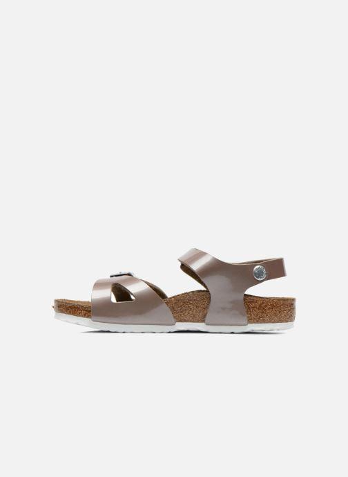 Sandali e scarpe aperte Birkenstock Rio Oro e bronzo immagine frontale