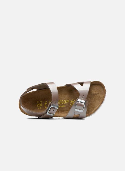 Sandali e scarpe aperte Birkenstock Rio Oro e bronzo immagine sinistra